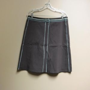 NWT Adorable Brown/Teal Anthropologie Skirt Sz 12